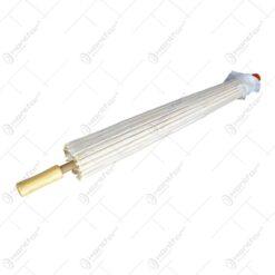 Umbreala tip accesoriu decorativ realizata din organza - Design Elegant - Alb