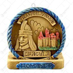 Aplica din gips in forma rotunda cu talpa. ornamentata bogat - Timisoara - Romania