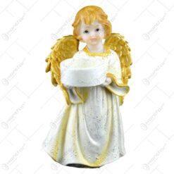 Figurina inger cu suport lumanare din rasina 12 CM