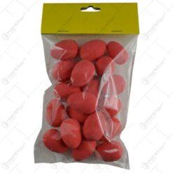 Set 18 oua colorate pentru Pasti - Rosu