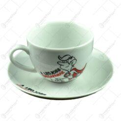 Ceasca cu farfurie - A legjobb edesapanak - Funny Mug