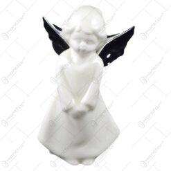 Figurina realizata din ceramica - Design ingeras cu aripioare (Model 1)