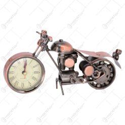 Ceas de masa realizat din metal - Design Motocicleta - Diferite modele (Tip 1)