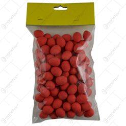 Set 100 oua colorate pentru Pasti - Rosu