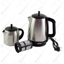 Set cana fierbator si ceainic electric realizat din inox si plastic