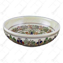 Fructiera din ceramica de Corund pictat cu motive populare