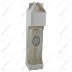 Sticla decorata cu placuta metalica - Design cu numarul 50