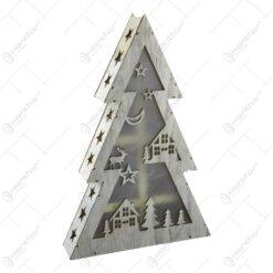 Decoratiune sezonirea cu LED realizata din lemn si material plastic - Design Brad
