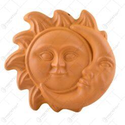Plachet ceramic in forma de luna-soare