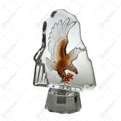 Bibelou din sticla decorat cu forma de vultur embosat