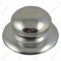 Buton realizat din inox pentru capac de oala