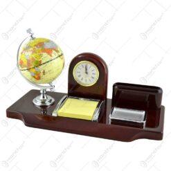 Suport de birou cu glop pamantesc si ceas