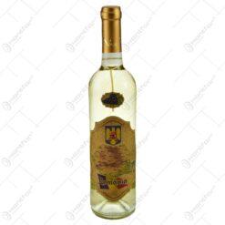 Vin alb 0.75l cu eticheta personalizata din pluta - Design Romania