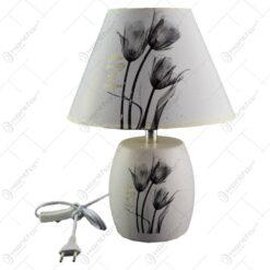 Veioza realizata din ceramica - Design cu flori