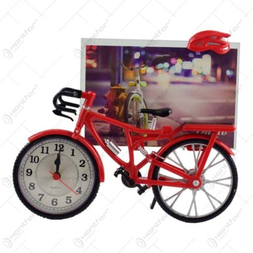 Rama foto in forma de bicicleta - Design cu ceas - 2 modele