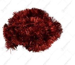 Ghirlanda pentru bradul de craciun realizata din folie PVC - Rosu
