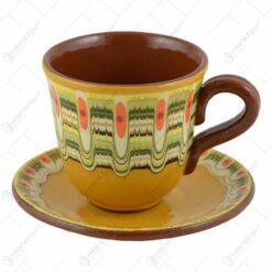 Set pentru ceai realizat din ceramica bulgareasca