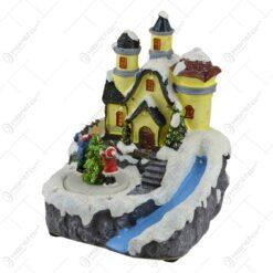 Ornament muzical pentru Craciun - Casa cu brad si zapada