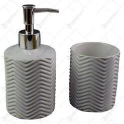 Set 2 accesorii pentru baie realizate din ceramica - Diverse culori