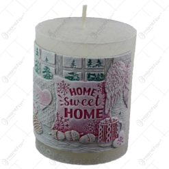 Lumanare craciun in forma cilindrica - Design Home Sweet Home (Model 1)