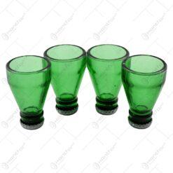 Set 4 pahare in forma de sticla