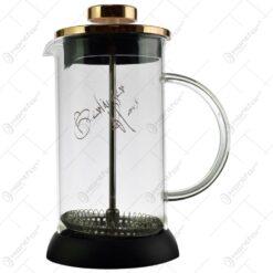 Infuzor ceai/cafea realizat din sticla si inox (Model 1)