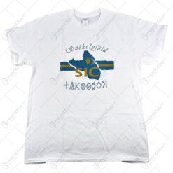 Tricou inscriptionat cu text Secuiesc - Szekelyfold - Alb/Negru