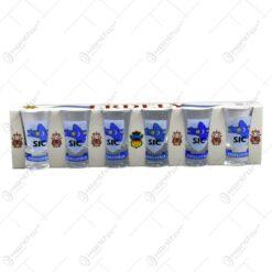 Set 6 pahare pentru bauturi spirtoase realizate din sticla - Design Secuiesc