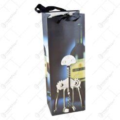 Punga cadou pentru bauturi decorata cu tematica din lumea vinului - Diferite modele (Model 3)