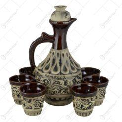 Set pentru vin realizat din ceramica - Design Grecesc