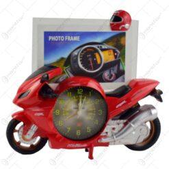 Rama foto in forma de motocicleta - Design cu ceas - 2 modele (Model 3)