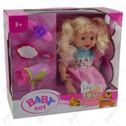 Set jucarie pentru fetite - Papusa cu accesorii pentru par
