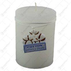 Lumanare parfumata cilindrica - Design Cotton
