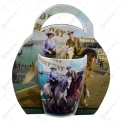 Cana Horses 250 ml din portelan  - Design cuplu pe cal