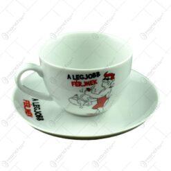 Ceasca cu farfurie - A legjobb ferjnek - Funny Mug