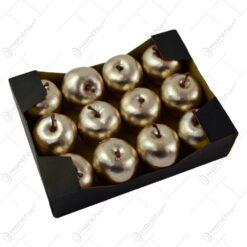 Set 12 mere decorative - Culoare sampanie