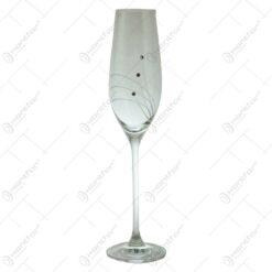 Set 6 pahare pentru sampanie realizate din sticla