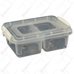 Cutie compartimentata realizata din material plastic pentru depozitarea alimentelor - Diverse culori