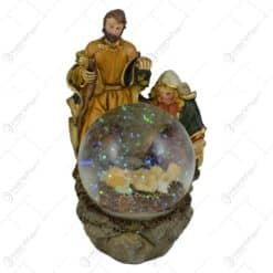 Glob de zapada realizata din sticla - Design Sfanta Familie - 2 modele
