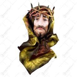 Icoana din ipsos si piele ecologica - Portretul lui Isus