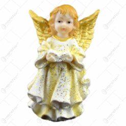 Figurina inger cu inima/biblie din rasina 10 CM
