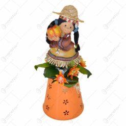 Ornament decorativ cu figurina - Design toamna