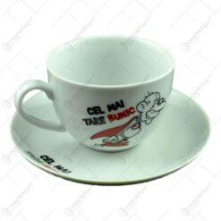 Ceasca cu farfurie - Pentru cel mai tare bunic - Funny Mug