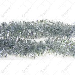Ghirlanda pentru bradul de craciun realizata din folie PVC - Argintiu
