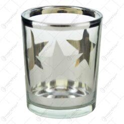 Candela realizata din sticla cu motive de craciun - Diferite modele
