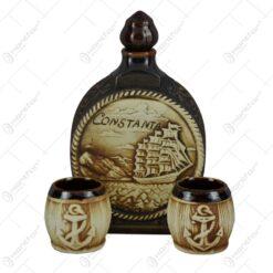 Set pentru vin realizat din ceramica - Design Compass