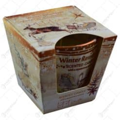 Lumanare parfumata in pahar de Craciun - Winter Reindeers - 2 modele