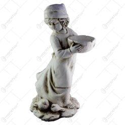 Statuie pentru gradina - Fetita cu pasari