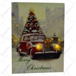 """Tablou cu lumini led - Design cu inscriptia """"Merry Christmas"""""""