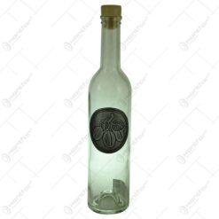 Sticla decorata cu placuta inscriptionata - Design cu prune